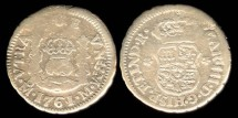 World Coins - 1761/0 Mo-M Mexico 1/2 Real - Mexico City Mint - Charles III - F