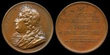 World Coins - 1824  France - Gérard Edelinck, French copper-plate engraver and print publisher of Flemish origin by Jacques-Édouard Gatteaux --Galerie Metallique des Grands Hommes Francais