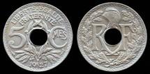 World Coins - 1927 France 5 Centimes BU