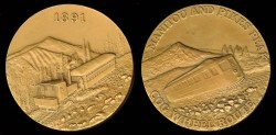 Us Coins - 1891 US – Pike's Peak Cog Wheel Railroad Souvenir Medal
