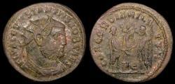 Ancient Coins - Constantius I Ae Radiate Fraction - CONCORDIA MILITVM - Cyzicus Mint