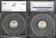 Us Coins - 1938 Mercury Dime SEGS MS63-FSB