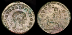 Ancient Coins - Aurelian Antoninianus - FORTVNA REDVX - Mediolanum Mint