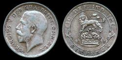 World Coins - 1913 Great Britain 6 Pence XF
