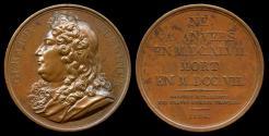 World Coins - 1824  France - Gérard Edelinck, French copper-plate engraver and print publisher of Flemish origin by Jacques-Édouard Gatteaux --Galerie Metallique des Grands Hommes Francais