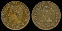 World Coins - 1853 BB France 5 Centimes AU