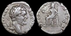 Ancient Coins - Septimius Severus Denarius - SECVRITAS PVBLICA - Rome Mint