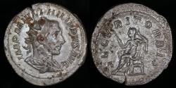 Ancient Coins - Philip I Antoninianus - SECVRIT ORBIS - Rome Mint