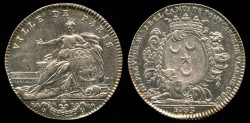 """World Coins - 1763 France - Jeton - Paris – """"PREVOTS DES MARCHANDS"""" Jean-Baptiste-Elie Camus de Pontcarré"""