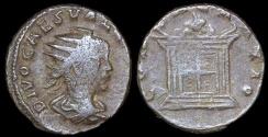 Ancient Coins - Valerian II  Antoninianus - CONSECRATIO - Rome Mint