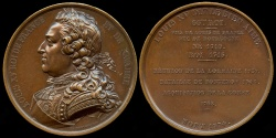 World Coins - 1840 France - Louis XV, the Well beloved was a monarch of the House of Bourbon, ruled as King of France and Navarre by Armand-Auguste Caqué #66