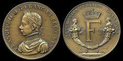 World Coins - 1560  France - King Francis II, Peace with England by Claude de Hery