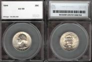Us Coins - 1944 Washington Quarter SEGS AU58