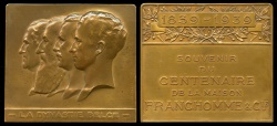World Coins - 1939 Belgium - The Belgian Dynasty - Centenary of the Franchomme Company by Jules Fonson