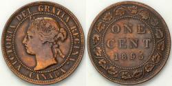 World Coins - 1895 Canada 1 Cent - Victoria - AU