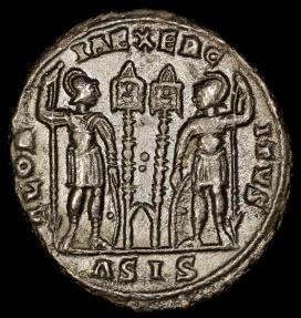 Ancient Coins - Constantius II Ae4 - GLORIA EXERCITVS - Siscia Mint