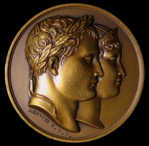 World Coins - 1811 France - Napoleon - The Birth of the King of Rome by Jean-Bertrand Andrieu, Dominique-Vivant Denon and Julien Marie Jouannin