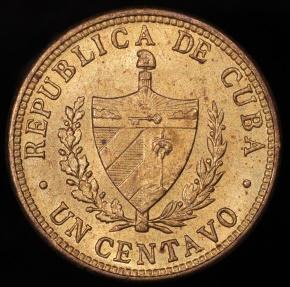 World Coins - 1943 Cuba 1 Centavo BU