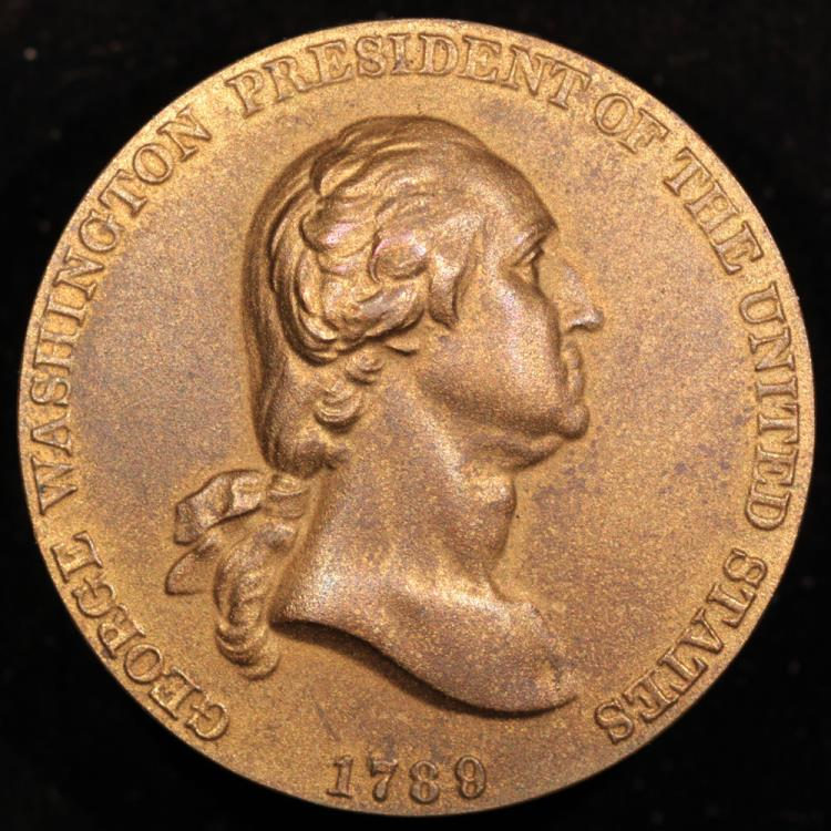 1789 first president george washington coin