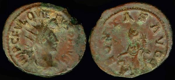 Ancient Coins - Quietus Antoninianus - AEQUITAS AVGG - Uncertain Syrian Mint