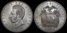 World Coins - 1943 Mo Ecuador 5 Sucres - BU
