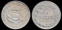 World Coins - 1878 Nicaragua 1 Centavo AU
