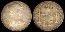 World Coins - 1777 Mo-FM Mexico 8 Real AU