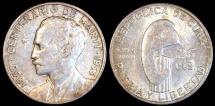 World Coins - 1953 Cuba 25 Centavos - Jose Marti Birth Centennial - AU