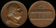World Coins - 1824 France – Louis XVIII – Orleans Corn Exchange