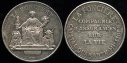 World Coins - 1860  France - Jeton - The Fire Insurance Company