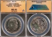 World Coins - 1927 Weimar Republic - Von Hindenburg's 80th Birthday by Karl Goetz - ANACS MS60