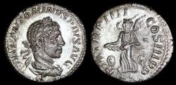 Ancient Coins - Elagabalus Denarius - P M TRP IIII COS III P P - Rome Mint