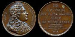 World Coins - 1819  France - René Trouin, Sieur du Gué, usually called René Duguay-Trouin, was a famous French privateer and naval officer of Saint-Malo