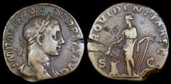 Ancient Coins - Severus Alexander Sestertius - PROVIDENTIA AVG - Rome Mint