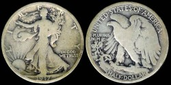 Us Coins - 1917 S Walking Liberty Half Dollar G