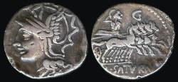 Ancient Coins - Lucius Appuleius Saturninus Denarius (104 BC)