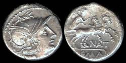 Ancient Coins - Pinarius Natta Denarius (155 BC)
