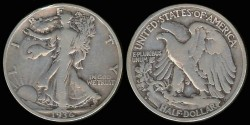 Us Coins - 1936 S Walking Liberty Half Dollar VG