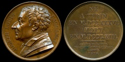 World Coins - 1818  France - Joseph-Louis Lagrange, Italian Enlightenment Era mathematician and astronomer, a member of the French Academy by Donadio