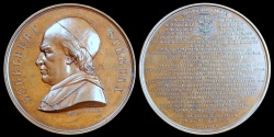 World Coins - 1867  Belgium - Cardinal Engelbert Sterckx, Death Medal: Archbishop of Mechelen, Belgium: Baptised Louis-Philippe, Crown Prince of Belgium by Antoine Fisch (Bollinckx Medal Firm)