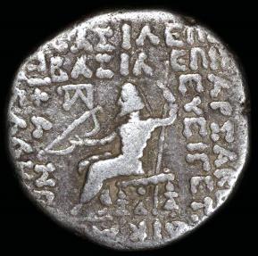 Ancient Coins - Tiridates Tetradrachm (29-27 BC) - Seleucia Mint