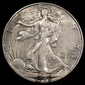 US Coins - 1942 P Walking Liberty Half Dollar AU