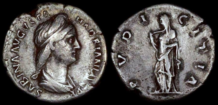 Ancient Coins - Sabina Denarius - PVDICITIA - Rome Mint