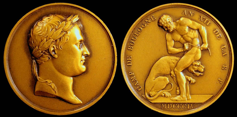 World Coins - 1804 France - Napoleon - Camp at Boulogne - The Invasion Preparations for the Twelfth Year by Jean-Pierre Droz