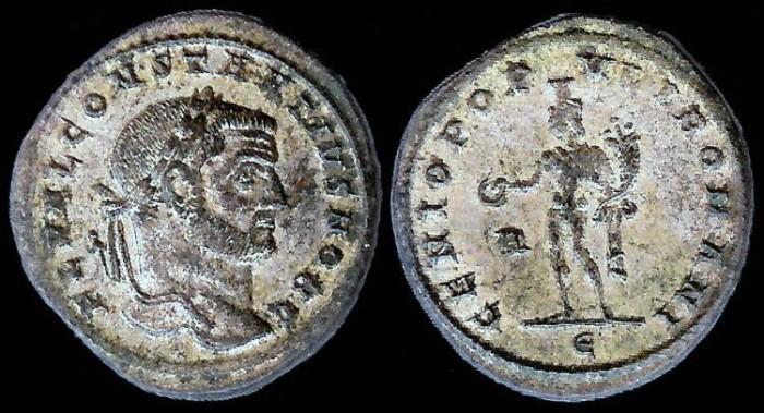 Ancient Coins - Constantius I Follis - GENIO POPVLI ROMANI - Rome Mint
