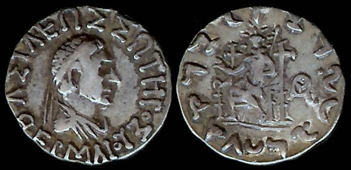 Ancient Coins - BAKTRIA, Indo-Greek Kingdom - Arachosia - Hermaios (40-1 BC) AR Drachm