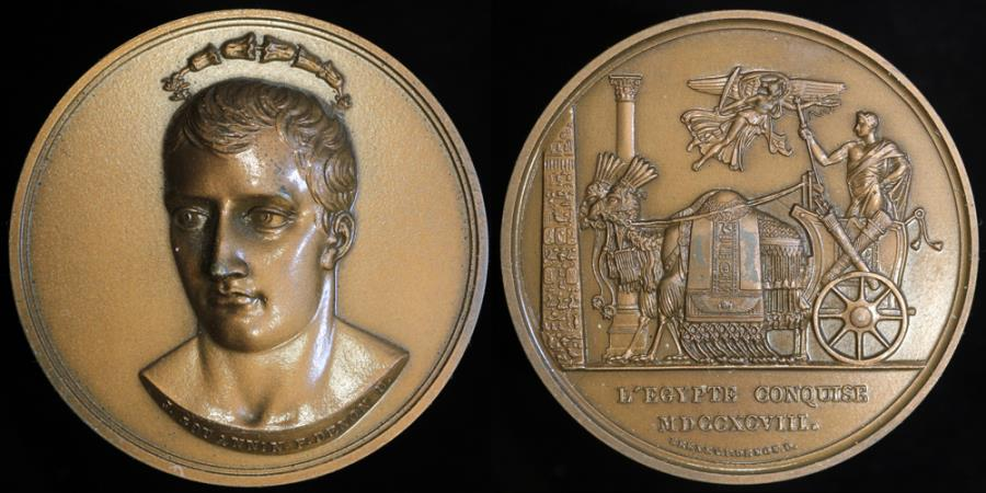 World Coins - 1798 France - Napoleon - The Conquest of Egypt by Julien Marie Jouannin and Dominique-Vivant Denon