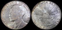 "World Coins - 1953 Cuba 1 Peso - ""Centennial of Jose Marti Birth"" - XF"