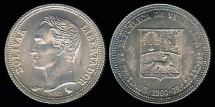 World Coins - 1960(a) Venezuela 25 Centimos BU
