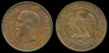 World Coins - 1854 MA France 10 Centimes UNC